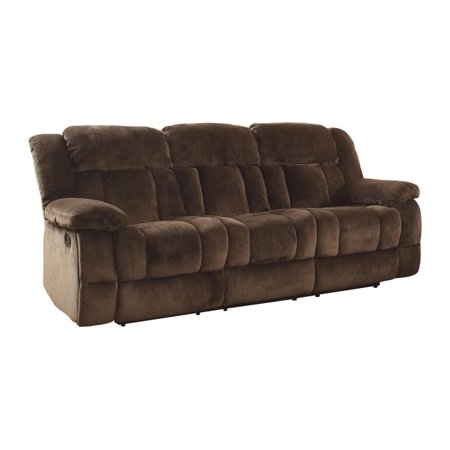 Homelegance Laurelton Double Reclining Sofa in Chocolate Microfiber Chocolate Reclining Sofa