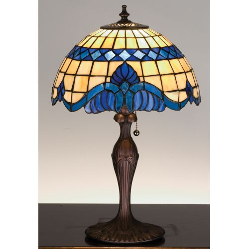 Meyda Tiffany 31201 Stained Glass / Tiffany Accent Table Lamp from the Baroque &