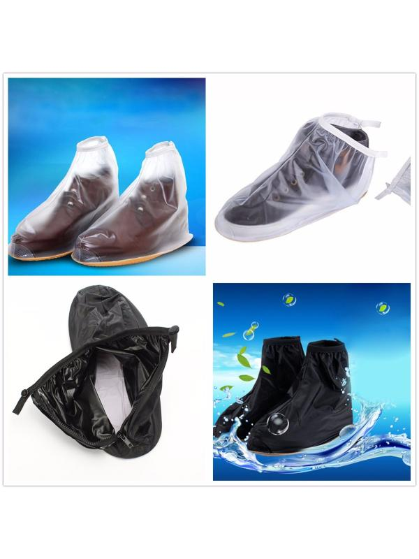 New Waterproof Men And Women Reusable Rain Shoes Rainy Day Skid Resistance Boots Flat... by