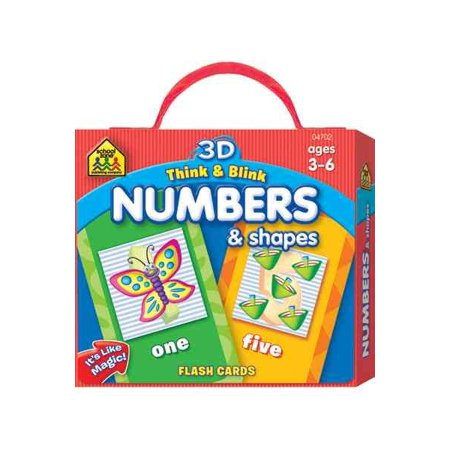 3D Think & Blink Numbers & Shapes Flash Cards - Shapes 3d