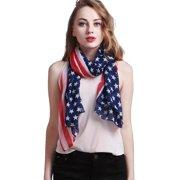 Patriotic American Flag Stars Stripes Sun Beach Multi-function Scarf - 2 Pack