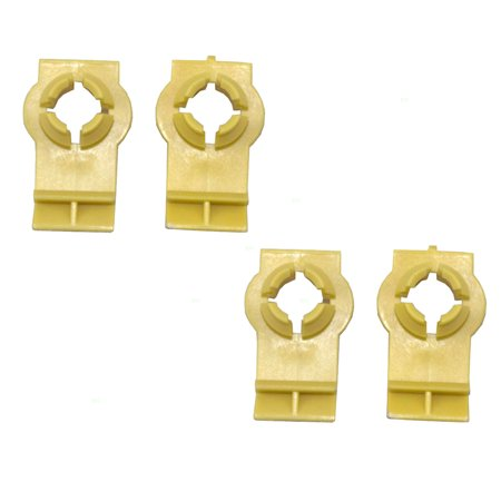 Window Regulator Guide - Set of Four Front Window Regulator Channel Guide Clips Replacement for BMW SUV 51338254781