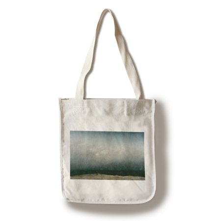 The Monk by the Sea - Masterpiece Classic - Artist: Caspar David Friedrich c. 1808 (100% Cotton Tote Bag - Reusable)