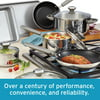 Farberware 13-Piece Complements Stainless Steel and Nonstick Pots and Pans Set/Cookware Set, Silver