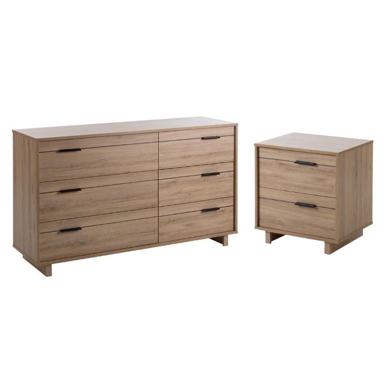 Fynn 2 Piece 6 Drawer Dresser And 2 Drawer Nightstand Set In