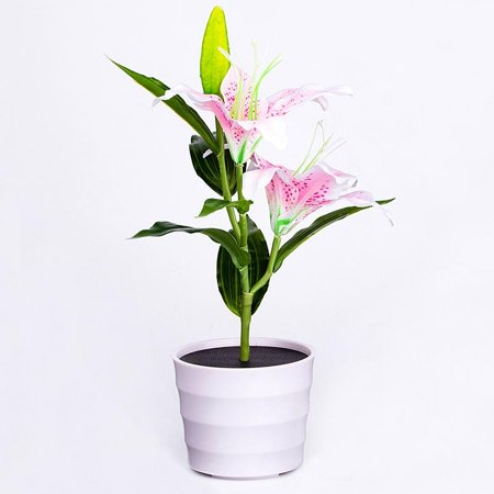 Solar Power LED Lily Flower Lamp Pink Waterproof Garden Decorative Light Plant Lamp - Halloween Water Lily Description