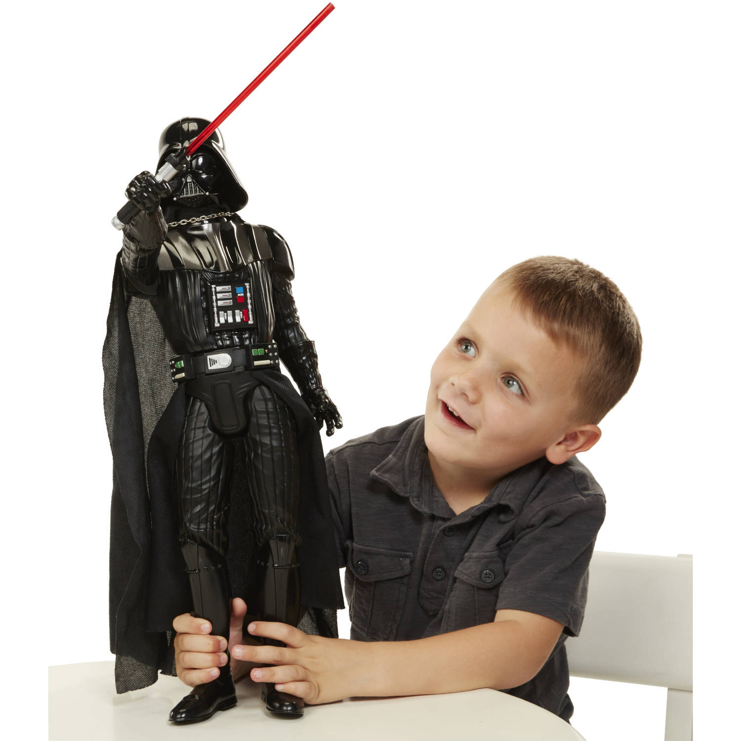 """Big Figs Deluxe Star Wars Classic 20"""" Darth Vader with Lightsaber Action"""