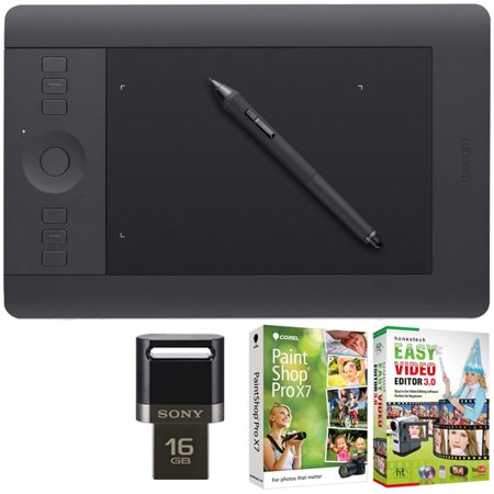 Wacom Intuos Pro Pen Touch Tablet Small Creative Bundle W 16gb