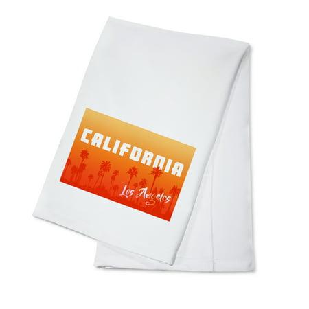 - Los Angeles, California - Palm Trees - Lantern Press Artwork (100% Cotton Kitchen Towel)