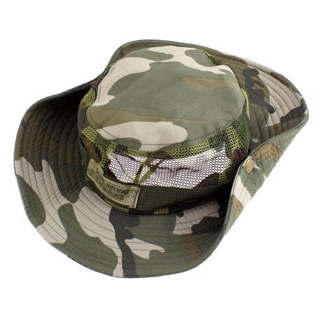 Outdoor camping hunting fishing camouflage pattern wide for Fishing hats walmart