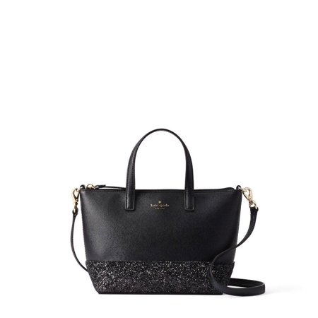 NEW WOMENS KATE SPADE (WKRU5610) BLACK INA GRETA COURT SMALL SATCHEL HANDBAG - Black Kate Spade