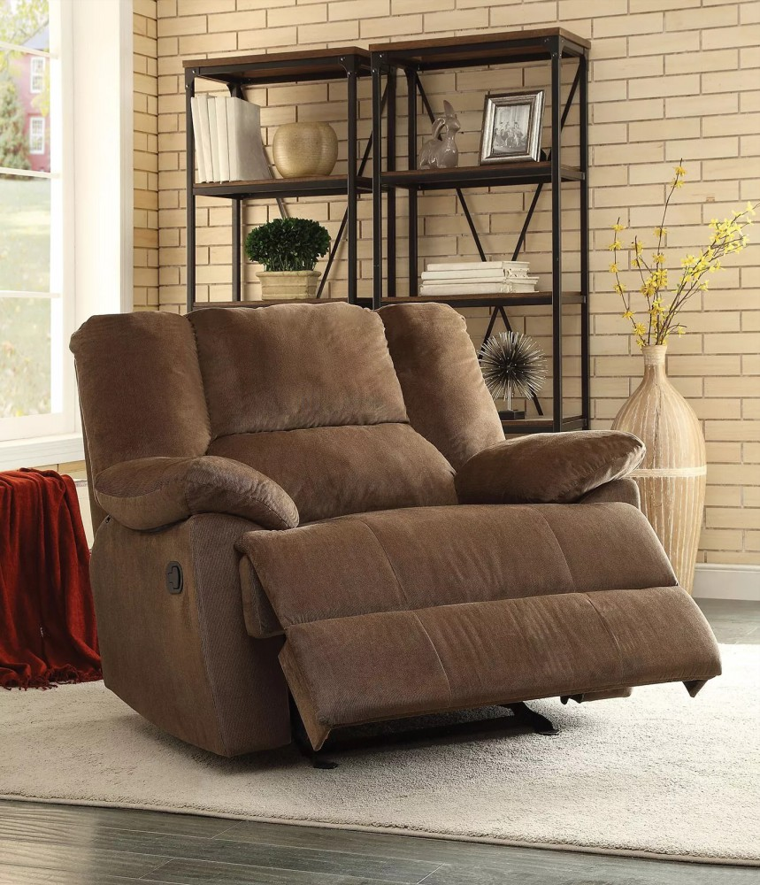 1PerfectChoice Oliver Chocolate Corduroy Oversized Motion Glider Recliner & Oversized Recliners islam-shia.org