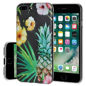 iPhone 7 Plus Case, Soft Gel Clear TPU Back Case Impact Defender Skin Cover for iPhone 7 Plus - Tropical