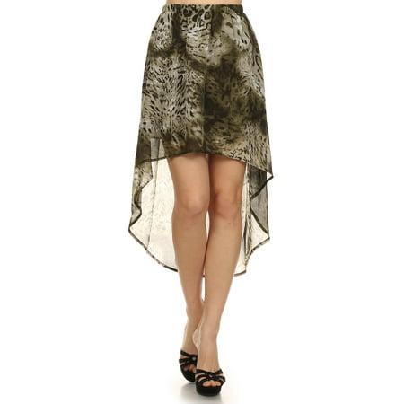 Women's print semi sheer skirt.