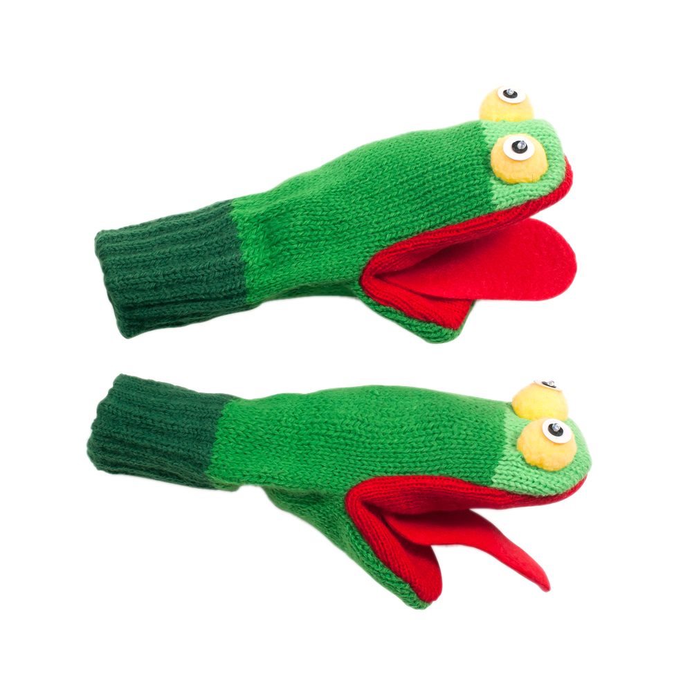 Kidorable Kids Toddler Cold Weather Medium Frog Mittens