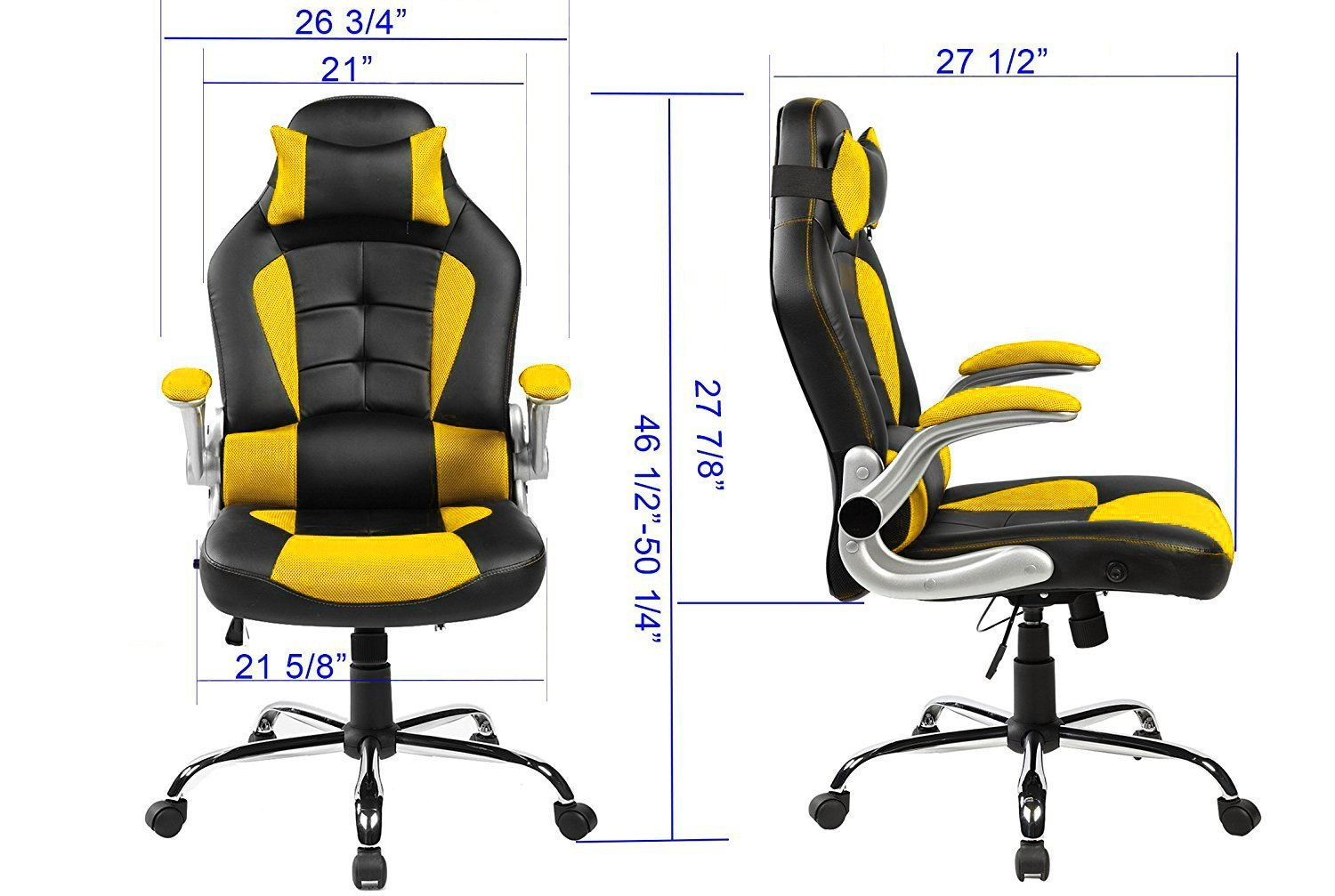 merax ergonomic high back racing style reclining gaming office chair