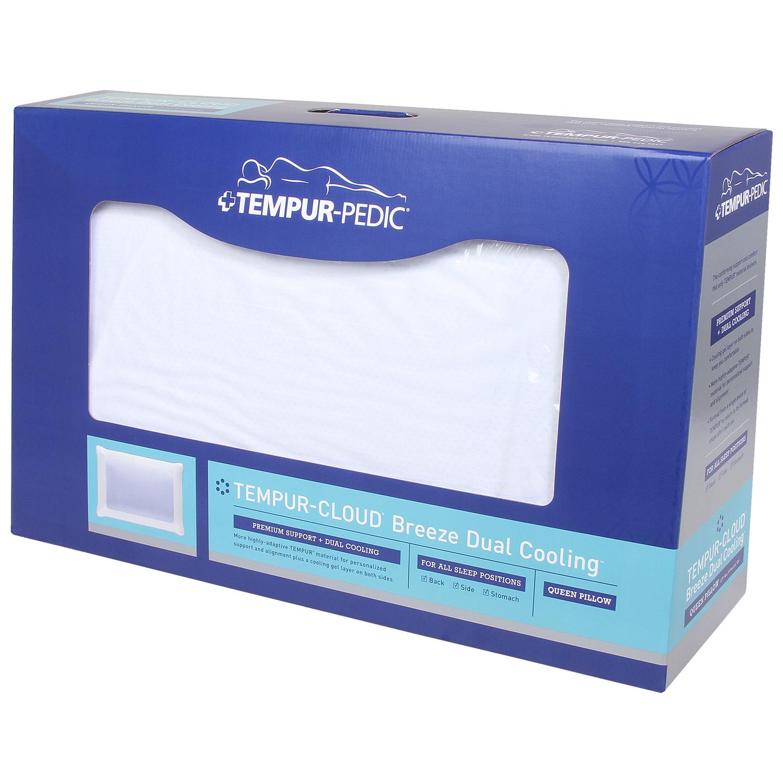 8aa908d16 TEMPUR-Cloud Breeze Dual Cooling Pillow - Queen - Walmart.com