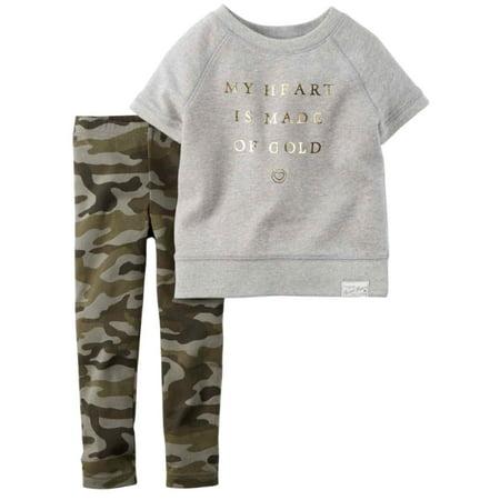 1b5574a3cb2b Carter s - Carters Infant Girls Heart of Gold 2 Piece Outfit Shirt ...