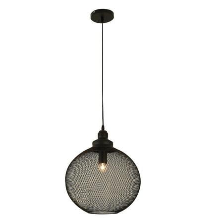 HOMCOM Steel  Mesh Pendant Light Industrial Retro Globe Hanging
