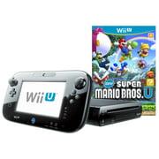 Refurbished Nintendo Wii U 32GB Deluxe Console with Super Mario Bros U Bundle