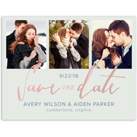 Script Knot Wedding Save the Date Postcard (Difference Between Save The Date And Wedding Invitation)
