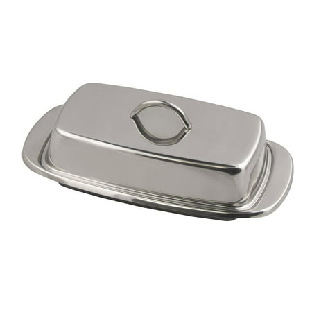 Fox Run 6510 Classic Stainless Steel Butter Dish, Kitchen Dining, 2.75