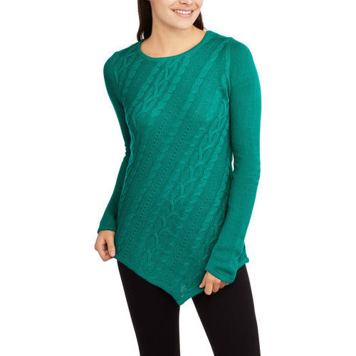 Allison Brittany Allison Brittney Women's Cable Pointelle Sweater