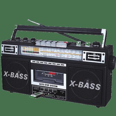 QFX J-22U Portable Stereo/Cassette Player, Black