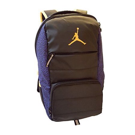 Nike Jordan Jumpman All World School Backpack, One Size (Black/Bright Concord)