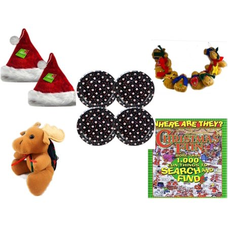 Gingerbread Dishes (Christmas Fun Gift Bundle [5 Piece] - Be Jolly Premium Santa Hat 17