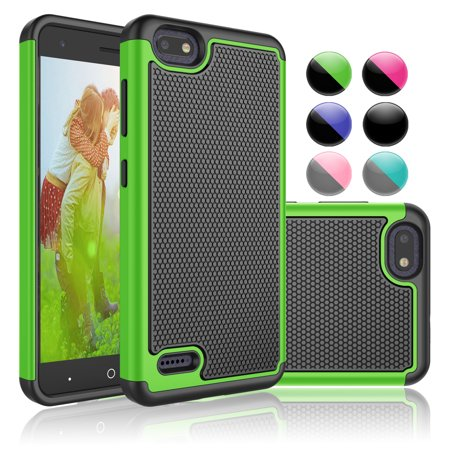 ZTE Warp 8 Case, ZTE Blade X Case, ZTE Blade Force Sturdy Case, ZTE N9517 Case, Njjex Ultra Slim fit Case TPU Bumper Anti-Scratch Case Shell For ZTE Blade Force / ZTE N9517 -Green