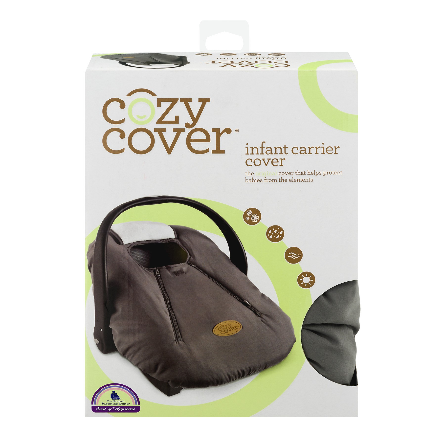 Cozy Cover Infant Carrier Cover, Gray