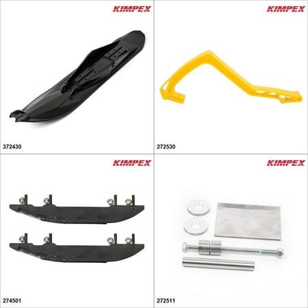 Kimpex - Ski Stealth Kit - Black, Ski-Doo Freestyle 550F 2007-09 Black / Yellow  (Line Freestyle Skis)