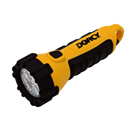 Dorcy 55 Lumen Floating Waterproof LED Flashlight with Carabineer Clip Dorcy, Yellow (41-2510)