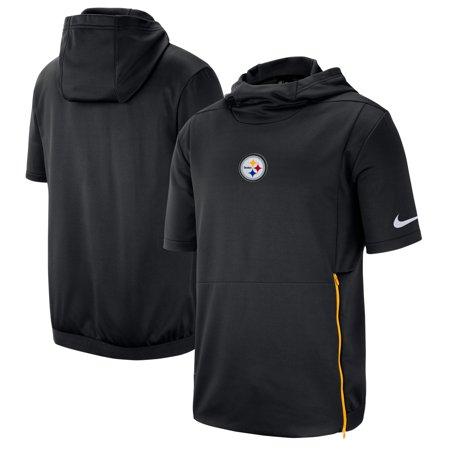 9c3527a184e588 Pittsburgh Steelers Nike Sideline Performance Hooded Top - Black -  Walmart.com