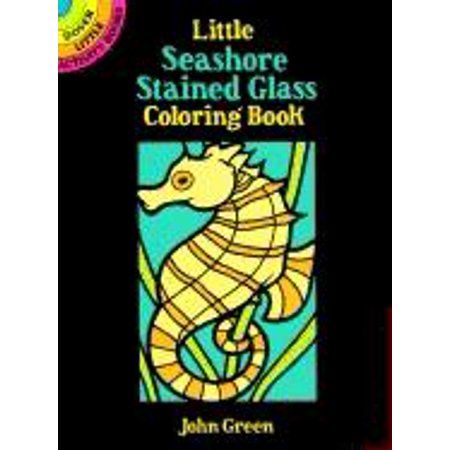 Dover Little Activity Books: Little Seashore Stained Glass Coloring Book (Paperback)](Stained Glass Coloring Pages)