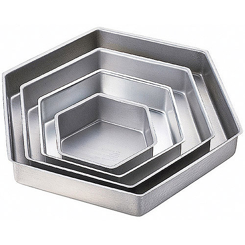 Wilton Performance Pans 4-Tier Deep Cake Pan Set, Hexagon 2105-3572
