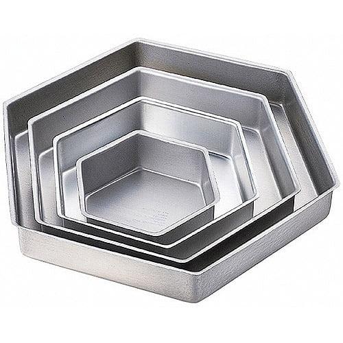 Wilton Performance Pans 4-Tier Deep Cake Pan Set, Hexagon 2105-3572