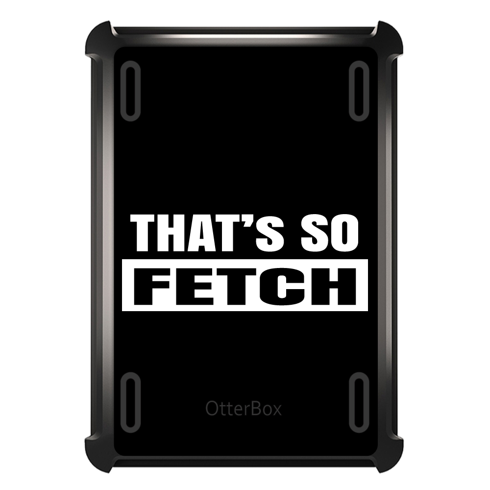 CUSTOM Black OtterBox Defender Series Case for Apple iPad Air 2 (2014 Model) - That's So Fetch