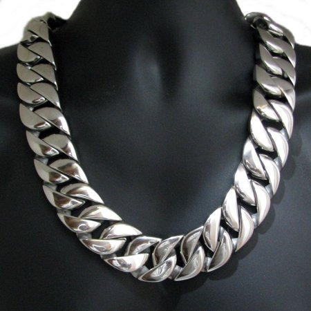 Mens Huge Chain 316L Stainless Steel 30 MM Wide Chunky Cuban Link 28