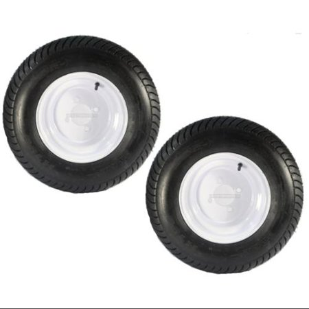 10 Square Rim (2-Pack Trailer Tires On Rims 20.5 X 8 X 10 205/65-10 20.5X8.0-10 4H)