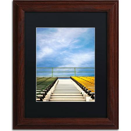 "Trademark Fine Art ""Stadium"" Canvas Art by Jason Shaffer, Black Matte, Wood Frame"