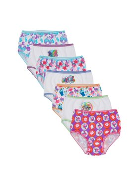 Trolls Girls Underwear, 7 Pack 100% Combed Cotton Panties (Toddler Girls)