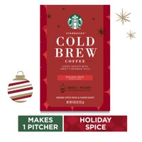 Starbucks Holiday Spice Flavored Cold Brew Coffee, Medium Roast Coffee, One Box of 4.65 Oz., Makes 1 Pitcher | Sweet Cinnamon Spice Notes