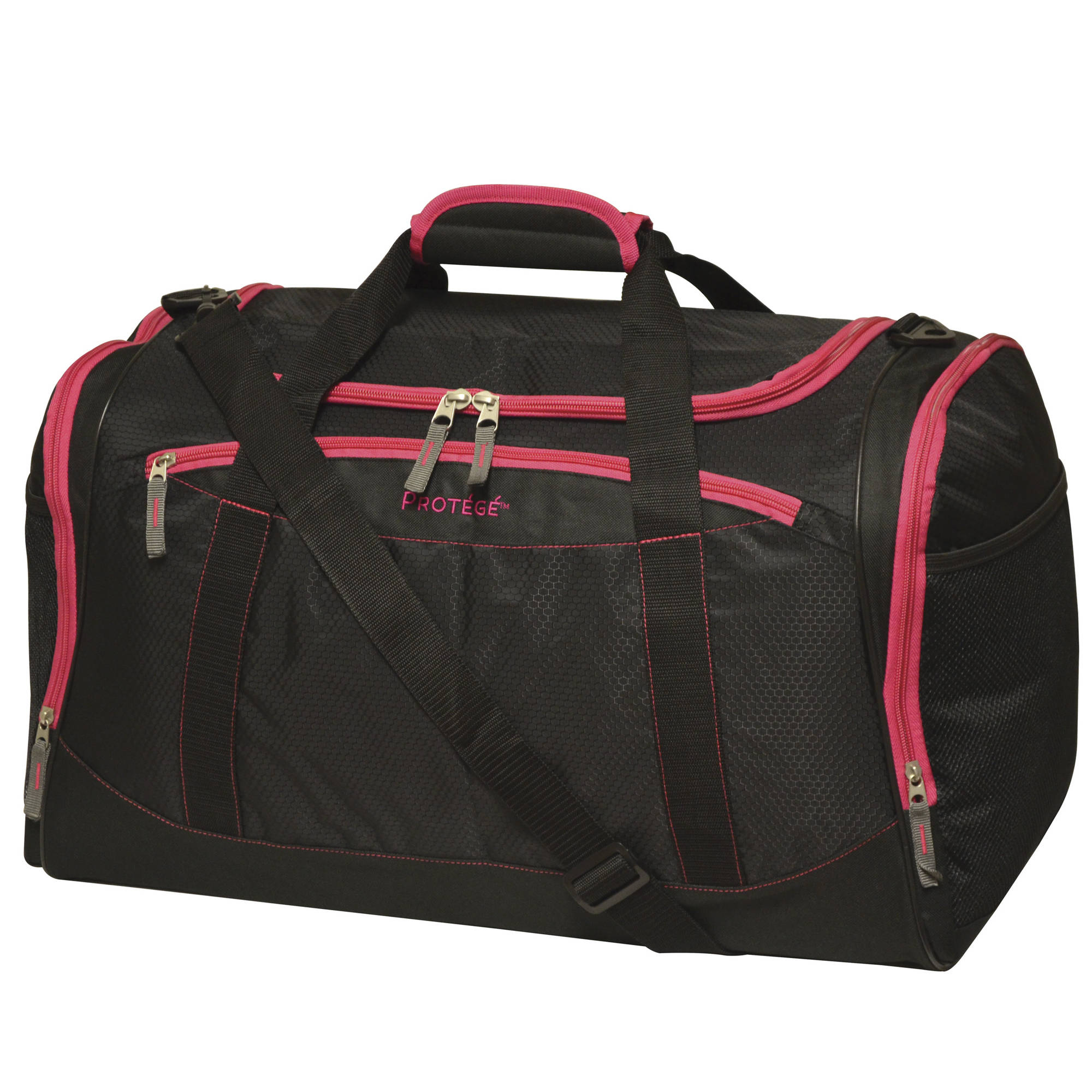 "Protege 22"" Duffel, Black with Pink"