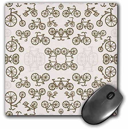 3dRose LLC 8 X 0.25 Inches Mouse Pad, Vintage Bicycles in Soft Brown (mp_62321_1) - image 1 of 2