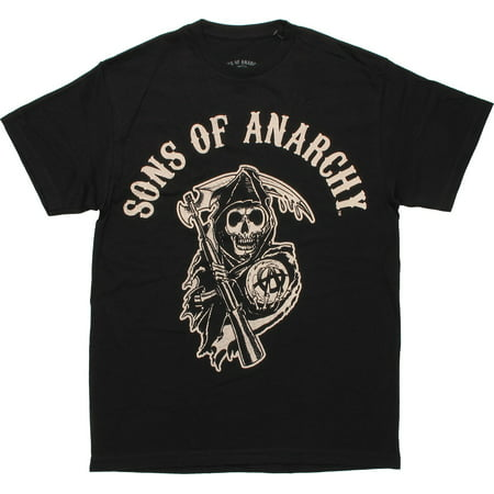 Sons of Anarchy Reaper Logo Black T Shirt (Sons Of Anarchy Old Lady T Shirt)
