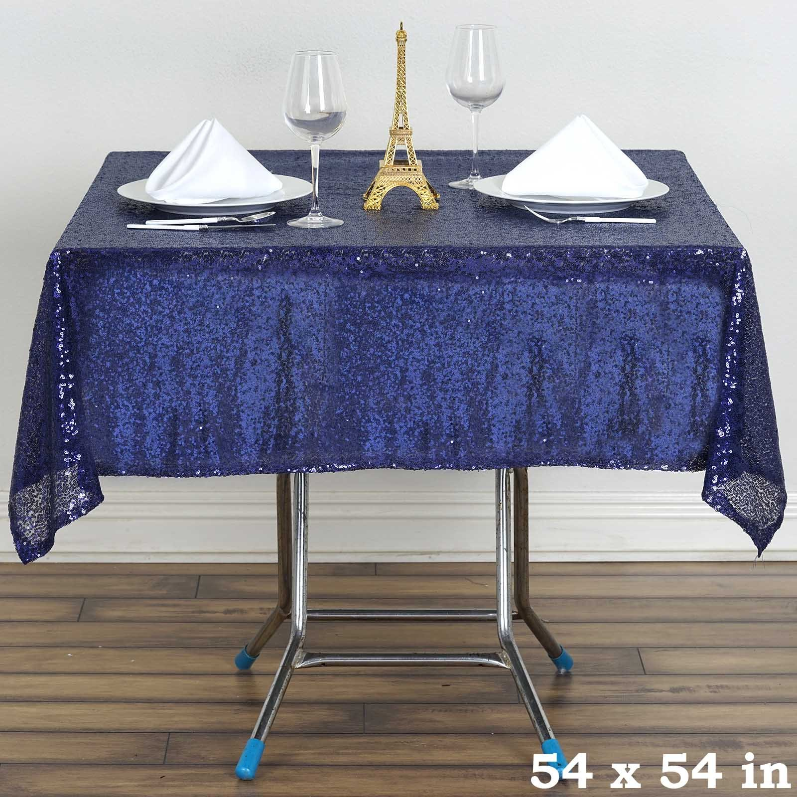 "BalsaCircle 54x54"" Square Sequined Tablecloth Wedding Party Catering Linens by"