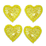 Expo Int'l Heart Sequin Applique - Pack of 4