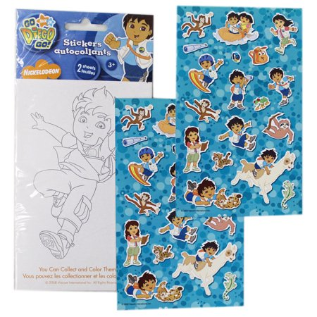 Go Diego Go! Having Fun Outside Assorted Character Stickers (18 Stickers) (Diego Stickers)